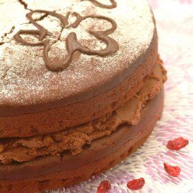 Darkly Divine Vegan Chocolate Fudge Cake