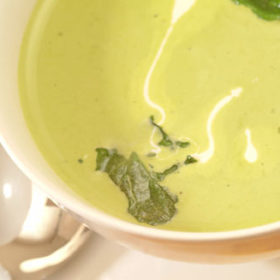 Fresh Broad Bean and Mint Soup