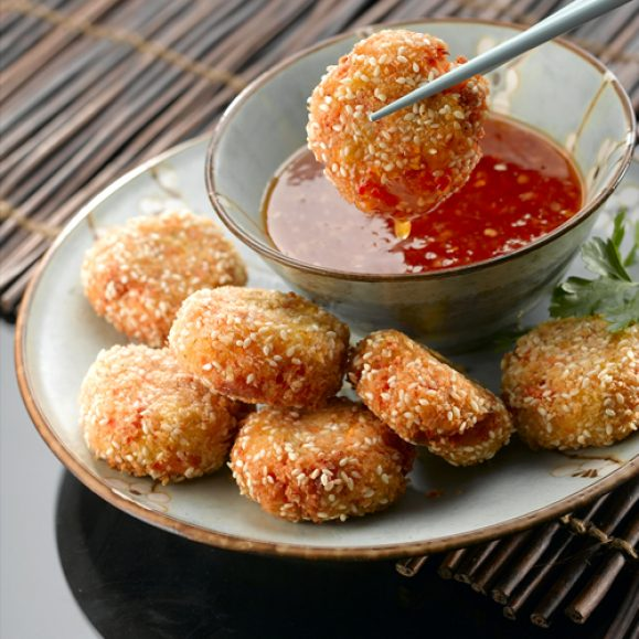 Carrot, Red Lentil and Sesame Bites