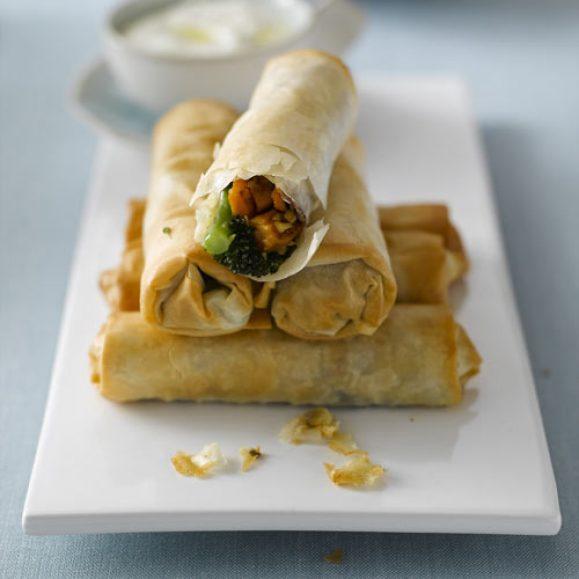 Tenderstem® Broccoli and Sweet Potato Filo Rolls