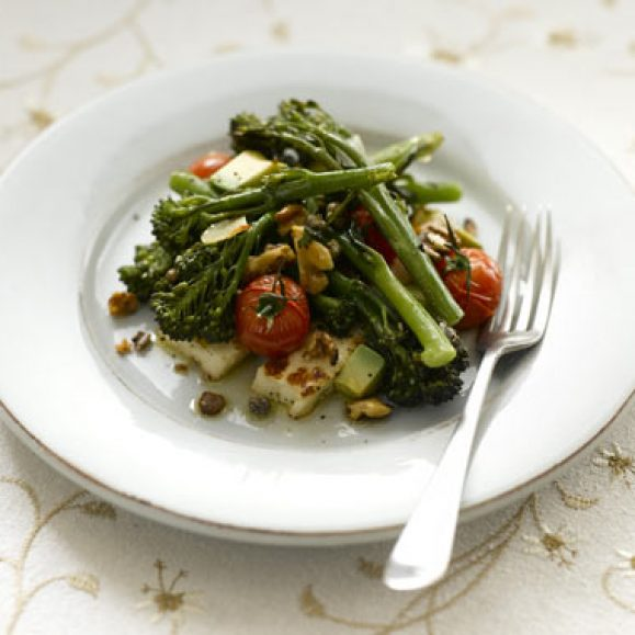 Roasted Tenderstem® Broccoli, Grilled Halloumi and Cherry Tomato Salad