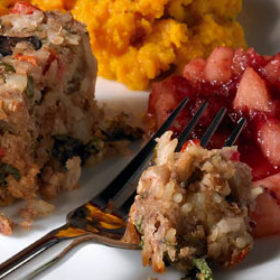 Crown Nut Roast with Cranberry Sauce