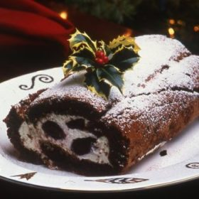 Chocolate, Brandy and Hazelnut Yule Log