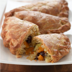 Swede, Potato and Bean Pasties