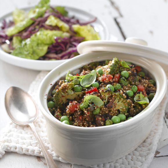 Mushroom and Vegetable Quinoa Salad