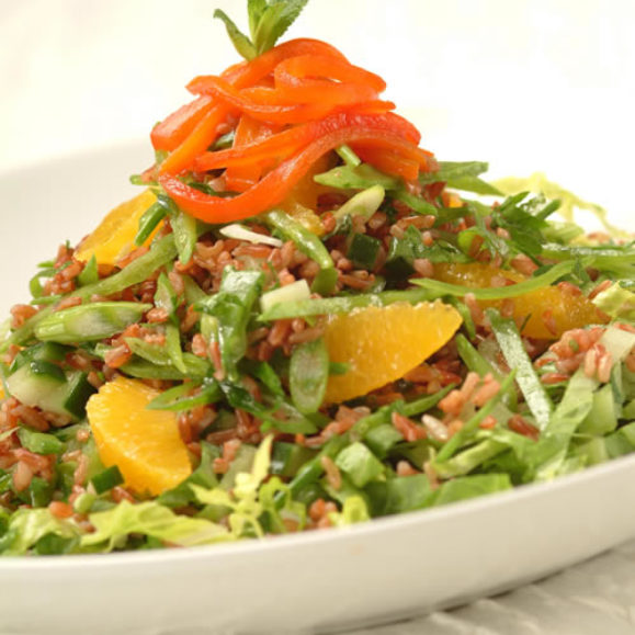Red Rice and Roasted Red Pepper Salad