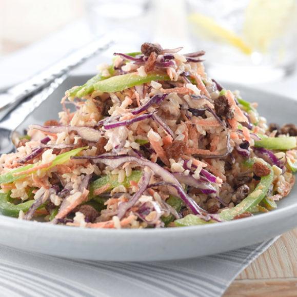 Tahini, Nut & Vegetable Rice Salad
