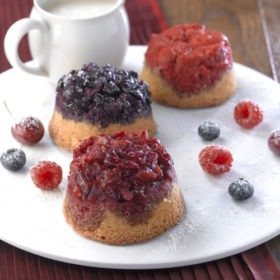 Jewelled Sponge Puddings with Brandy Sauce