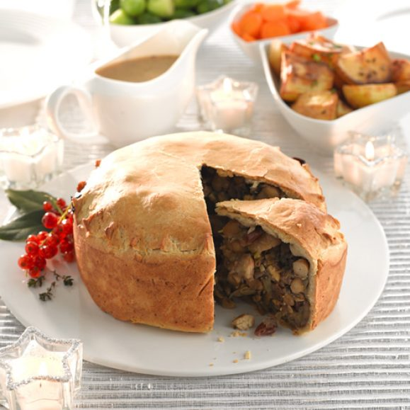 Woodland Pie- Filled with Nuts, Mushrooms and Leek