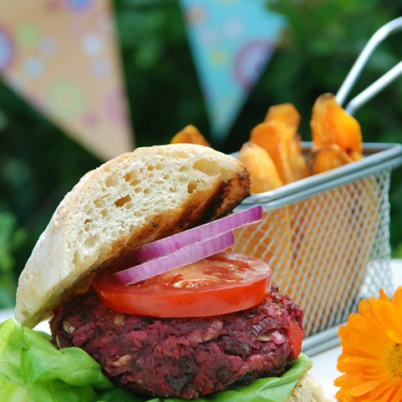 Beetroot and Chilli Burgers