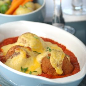 Juniper Croquettes with a Sherry and Tomato Sauce