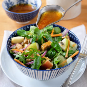 Fruit and Nut Salad with a Chilli Lime Dresssing