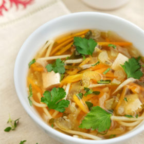 Mixed Vegetable and Quorn Noodle Soup