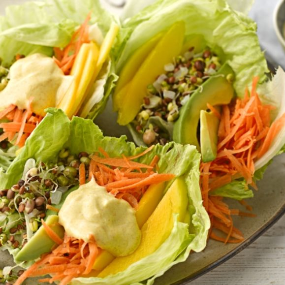 Lentil and Avocado Lettuce Wrap