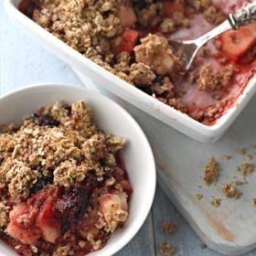 Oaty Blackberry and Apple Crumble