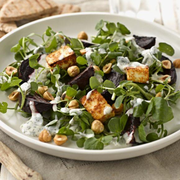Paneer, Roasted Beetroot and Hazelnut Salad