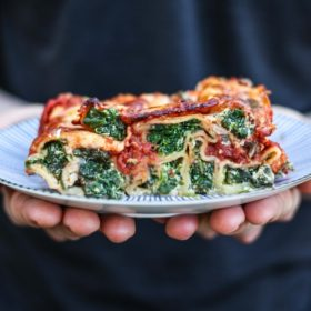 Homemade Spinach and Ricotta Cannelloni