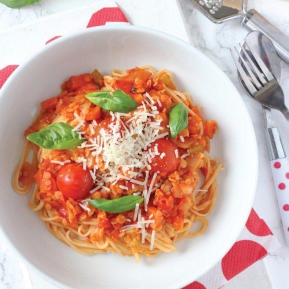 Red Lentil Bolognese