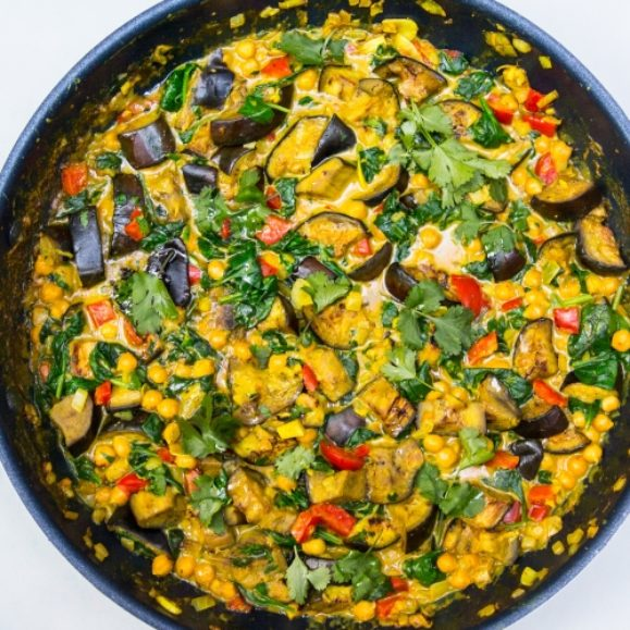 Aubergine Peanut Butter Curry