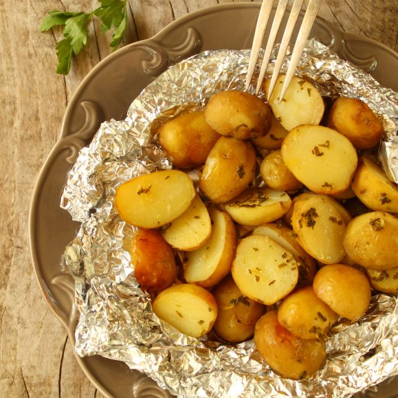 New Potatoes with Rosemary and Garlic