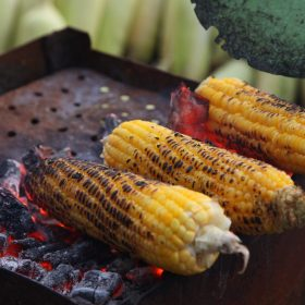 Maple and Chilli Glazed Sweetcorn