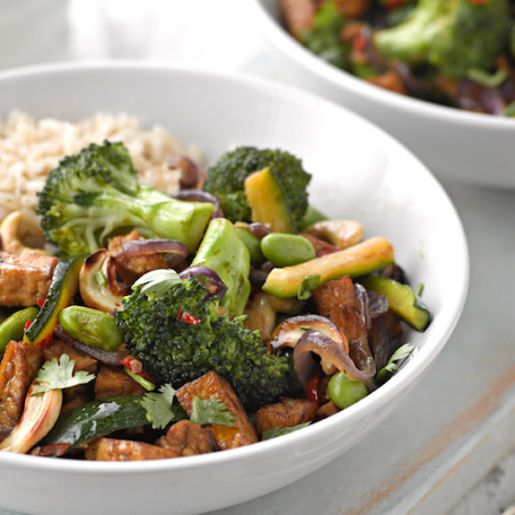 Supergreen Stir-Fry with Marinated Tofu