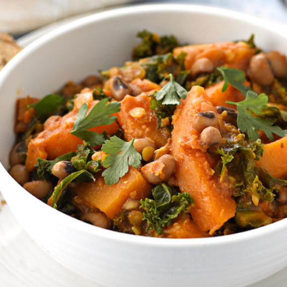 Butternut Squash Stew with Curly Kale