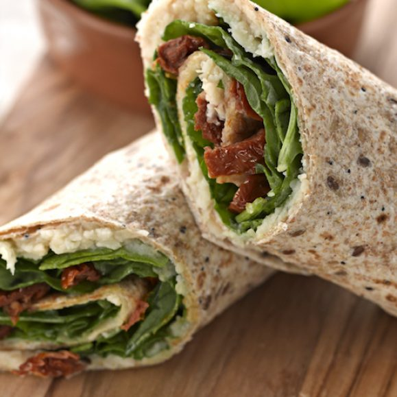 Butter Bean, Spinach and Sun-Dried Tomato Wrap