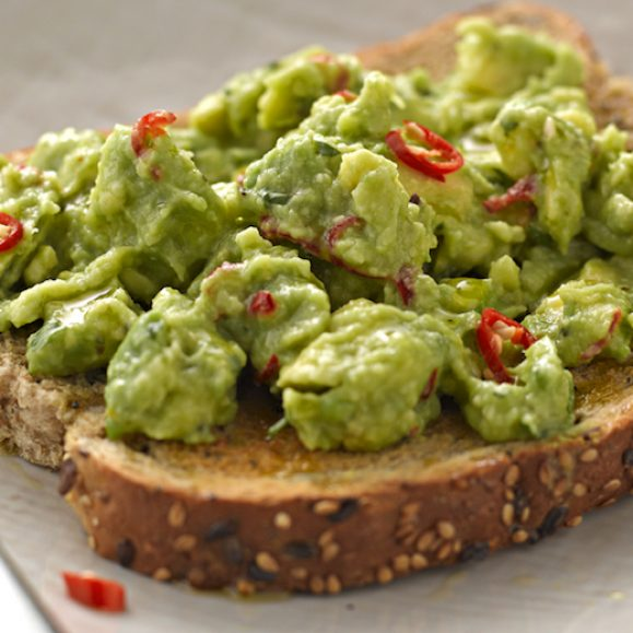 Avocado, Chilli and Lime on Toast