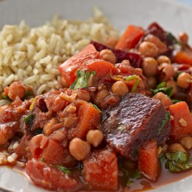 Beetroot and Chickpea Curry