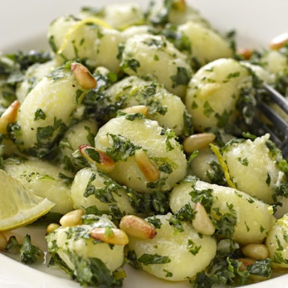 Gnocchi with Lemon and Kale Pesto