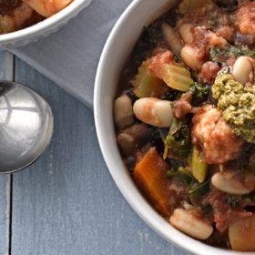 Cannellini Bean, Potato and Tomato Soup