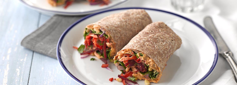 Carrot, Beetroot and Harissa Hummus Flatbread | Vegetarian ...