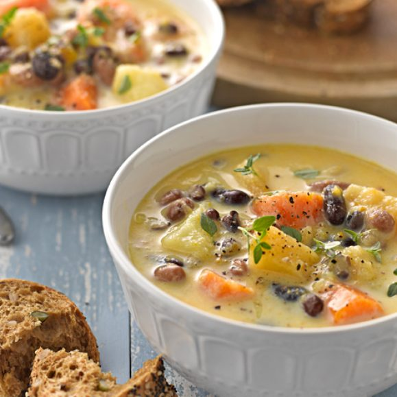 Winter Roots and Beans Soup