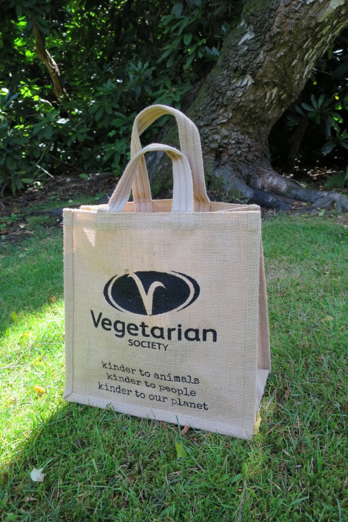 Vegetarian Society jute shopper