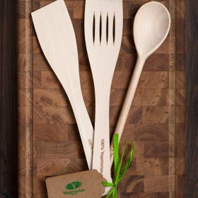 '100% vegetarian' cooking utensils