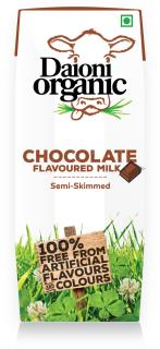 Chocolate flavoured Daioni organic milk 250ml