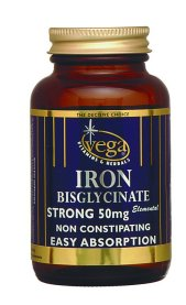 V-CapsTM Iron (Bisglycinate) 50mg Non-Constipating