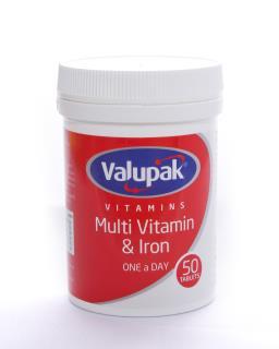 Valupak Vitamins Multi Vitamin & Iron OAD Tablets