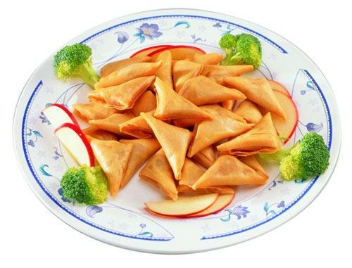Vegetarian Yam Samosa