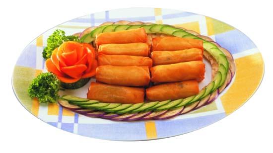 Vegetarian Sambal Udang Spring Roll