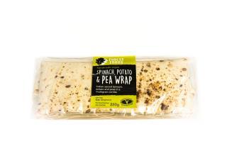 Wraps: Spinach Potato and Pea