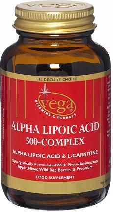 V-CapsTM Alpha Lipoic Acid + Acetyl L-Carnitine 500 – Complex