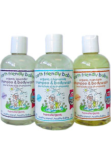 Earth Friendly Baby Calming Lavender Shampoo & Bodywash Ecocert Organic