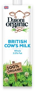 Organic Whole UHT cows milk 1L