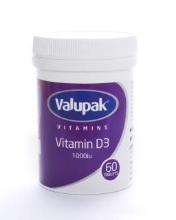 Valupak Vitamins Vitamin D3 1000 IU Tablets