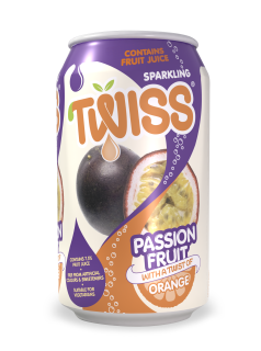 Twiss Sparkling Passion Fruit with a twist of Orange Juice Drink