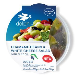 Edamane beans & white cheese salad
