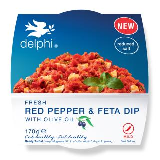 Red pepper & feta dip