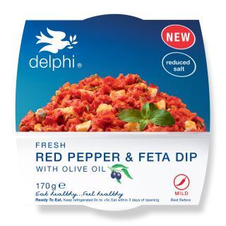 Red pepper & feta dip